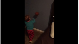Toddler Learns About Physics The Hard Way. Epic Fail! - Video