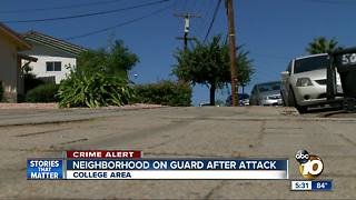 SDSU neighbors on guard after attack - Video