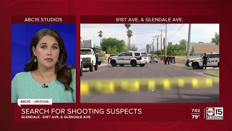 Multiple men on the loose after shooting involving police near 61st Avenue and Glendale