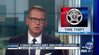 4 Denver Sheriff deputies suspended after time card fraud - Video