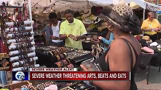 Severe weather threatening Arts, Beats & Eats - Video