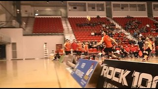 Canadian Volleyball Team Scores Amazing Match Point - Video