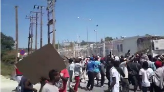 Protest Turns Violent at Moria Camp in Lesbos, Greece - Video