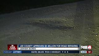 Lee County approves $5 million to repave roads