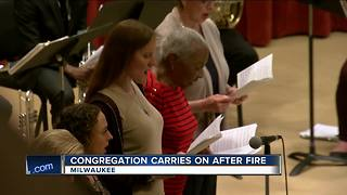 Trinity Evangelical Lutheran Church holds first service since fire - Video