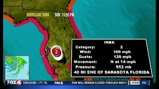 Hurricane Irma is still a category 2 after hitting Southwest Florida