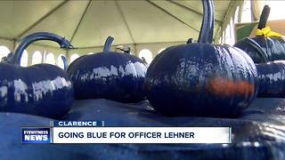Going blue for Officer Lehner - Video