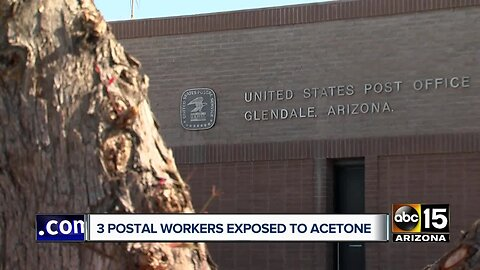 """""""Chemical spill"""" at Phoenix post office involved acetone"""