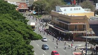 Hundreds of teen scooter riders take over Brisbane - Video