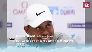 """Tiger Woods announces his completion of """"intensive program"""" 