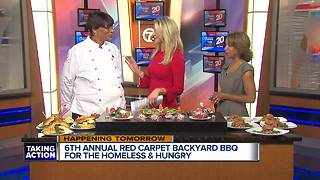 Red Carpet Backyard BBQ For the Homeless and Hungry