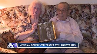 Meridian couple celebrates 75th wedding anniversary - Video