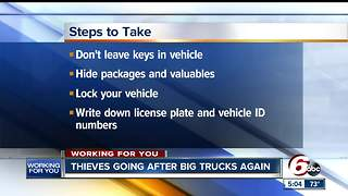 Thieves are targeting big pickups across Indianapoliso