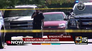 Family fight leads to man shot by Mesa police - Video