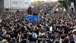Anti-extradition protestors once again flood streets of Hong Kong