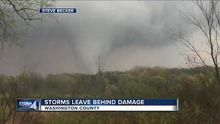 'It was over within 10 seconds': Tornado touches down in Washington County - Video