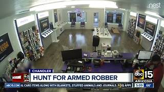 Authorities searching for armed robbery suspect in Chandler - Video