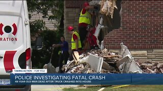 Sterling Heights man dies after truck slams into house on 19 Mile Road