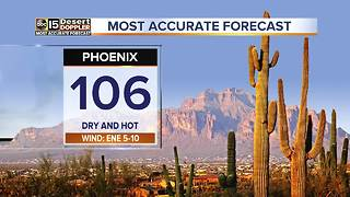 High of 106 degrees in Phoenix today - Video
