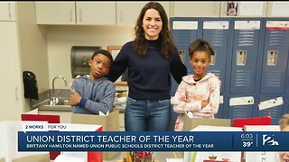Brittany Hamilton Named Union Public Schools District Teacher of the Year