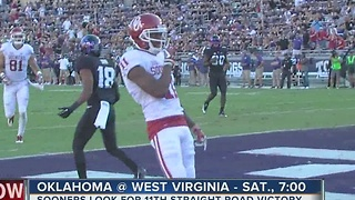 Sooners visit West Virginia looking for 11th straight road win