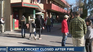 Cherry Cricket restaurant closed indefinitely following small kitchen fire - Video