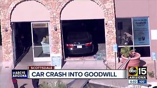 Car crashes into Scottsdale Goodwill store