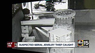 Suspected Valley serial jewelry thief caught