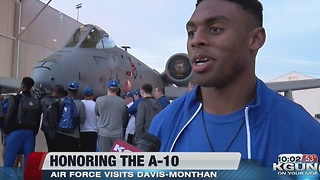 The Falcons visit Davis-Monthan before big game - Video
