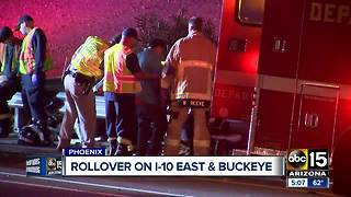 Rollover crash on Interstate 10 near Buckeye - Video