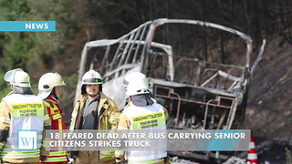 18 Feared Dead After Bus Carrying Senior Citizens Strikes Truck - Video