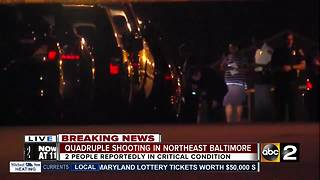 Quadruple shooting in Northeast Baltimore - Video
