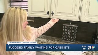 Sand Springs family still waiting to restore kitchen cabinets after devastating flood