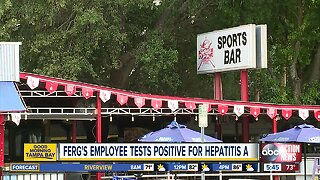 Ferg's Sports Bar employee tests positive for Hepatitis A