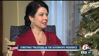 Holcombs celebrate first Christmas in the governor's residence