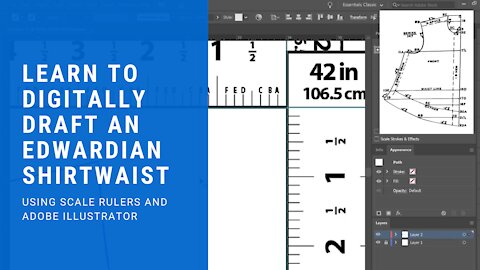 Learn to Digitally Draft Sewing Patterns Using Scale Proportion Rulers