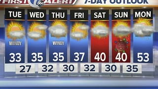 Autumns 7 First Alert forecast for December 20th 7 Eyewitness News at Noon - Video