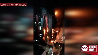 VIDEO: Huge fire engulfs Sao Paulo building - Video