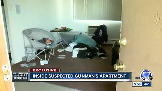 Inside suspected gunman's apartment