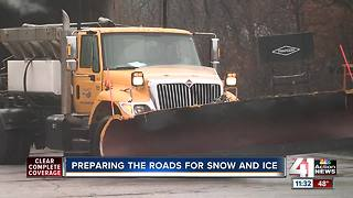 Crews preparing roads for snow, ice - Video
