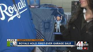 Fans score at Royals garage sale - Video