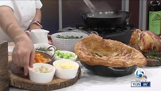 Skillet Chicken Pot Pie with fall vegetables recipe