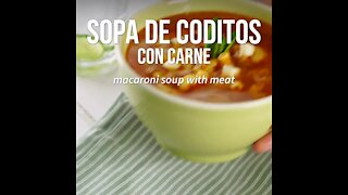 Coditos Soup with Meat