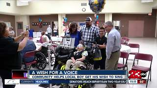Local boy's wish for a voice comes true - Video