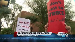 Tucson petition circulating for statewide walkout for educators - Video