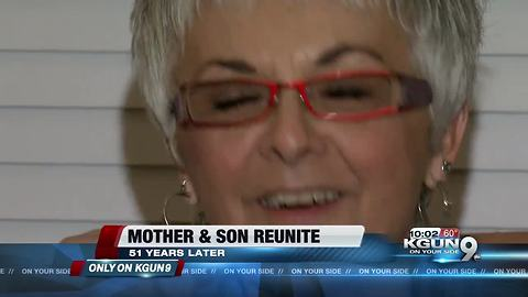Mother and son reunite after 51 years apart