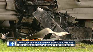 Brandon house fire - Video