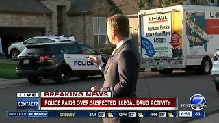 Police serve search warrants in illegal marijuana grow investigation - Video