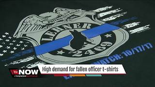 T-shirts for Officer Lehner in high demand - Video