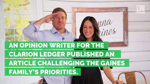 Chip Gaines Shuts Down Writer Who Calls Out His & Joanna's Family Values